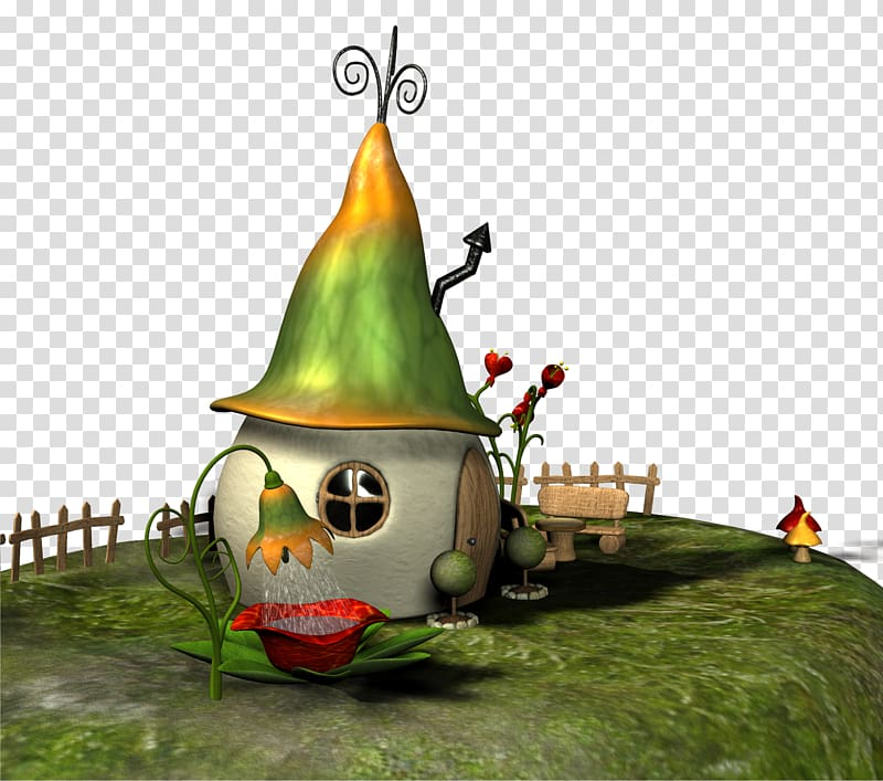 White green and yellow. Fairytale clipart fairytale scene