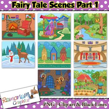 Fairytale clipart fairytale scene. Fairy tale clip art