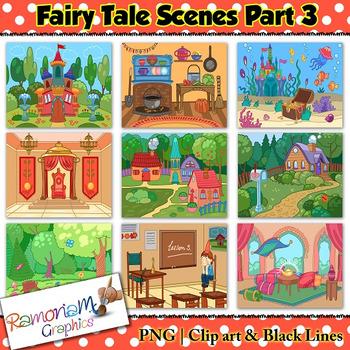 Fairy tale clip art. Fairytale clipart fairytale scene