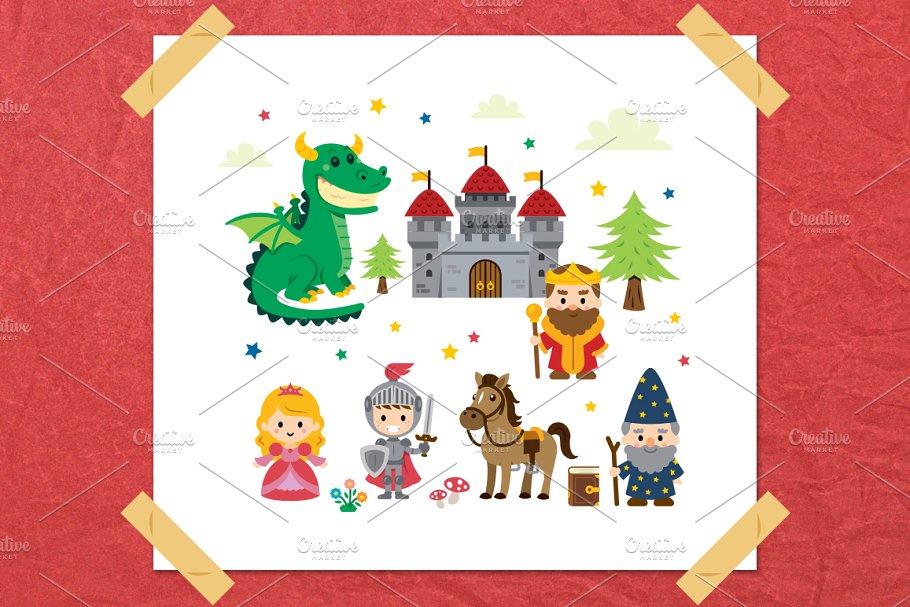 Fairy tale kit . Fairytale clipart fantasy story