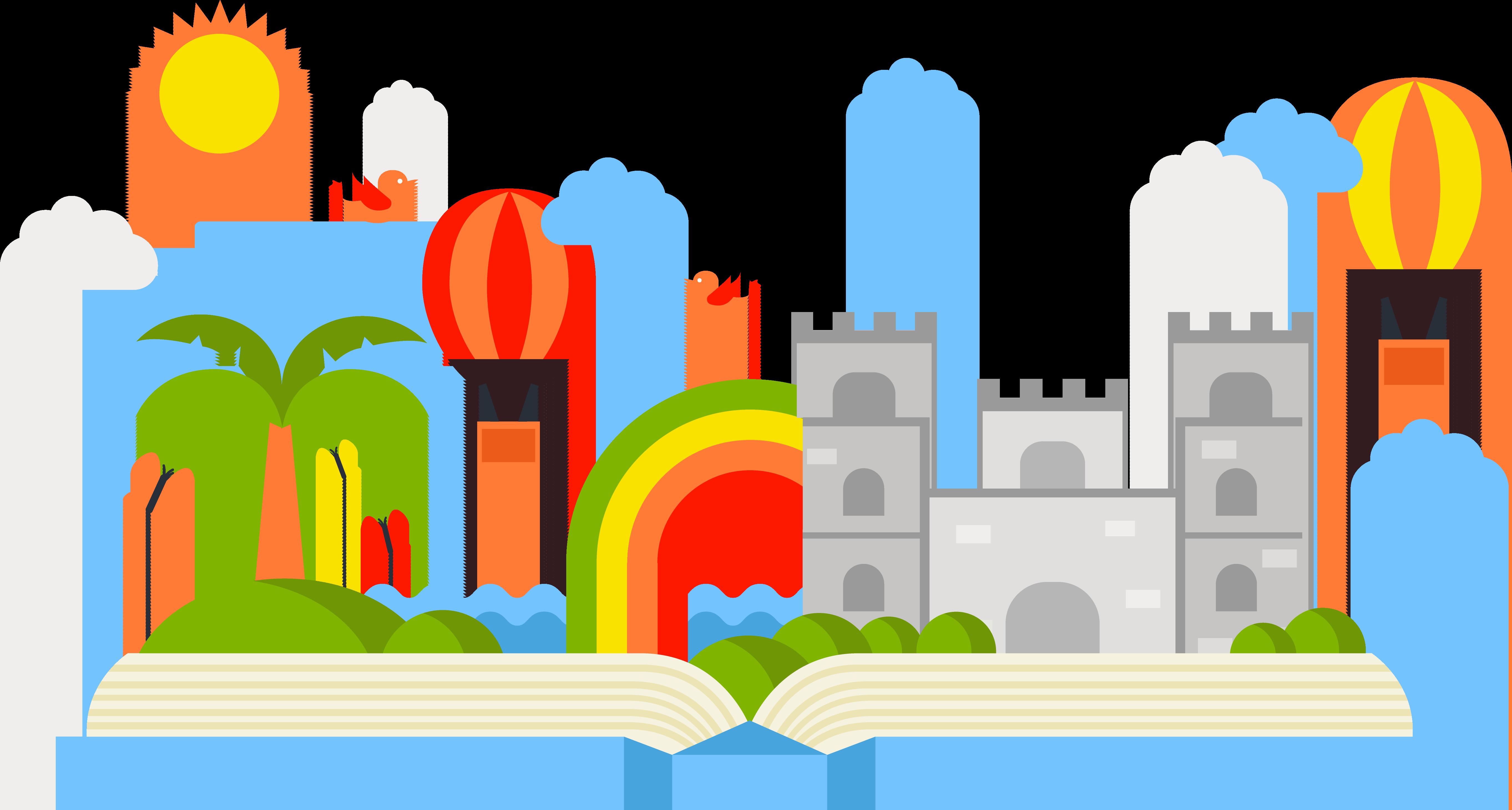 Fairytale clipart fiction book. Storytelling fairy tale illustration