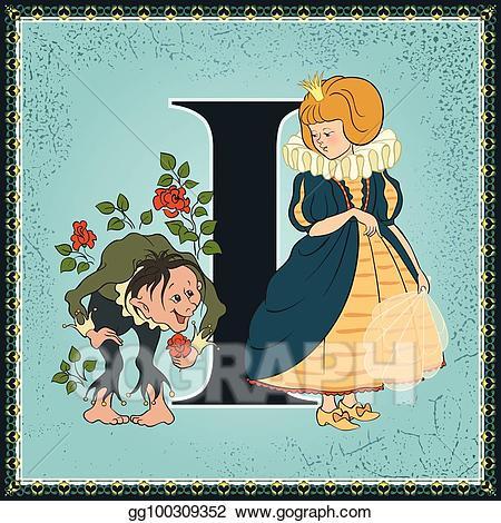 Fairytale clipart fiction book. Vector art children cartoon