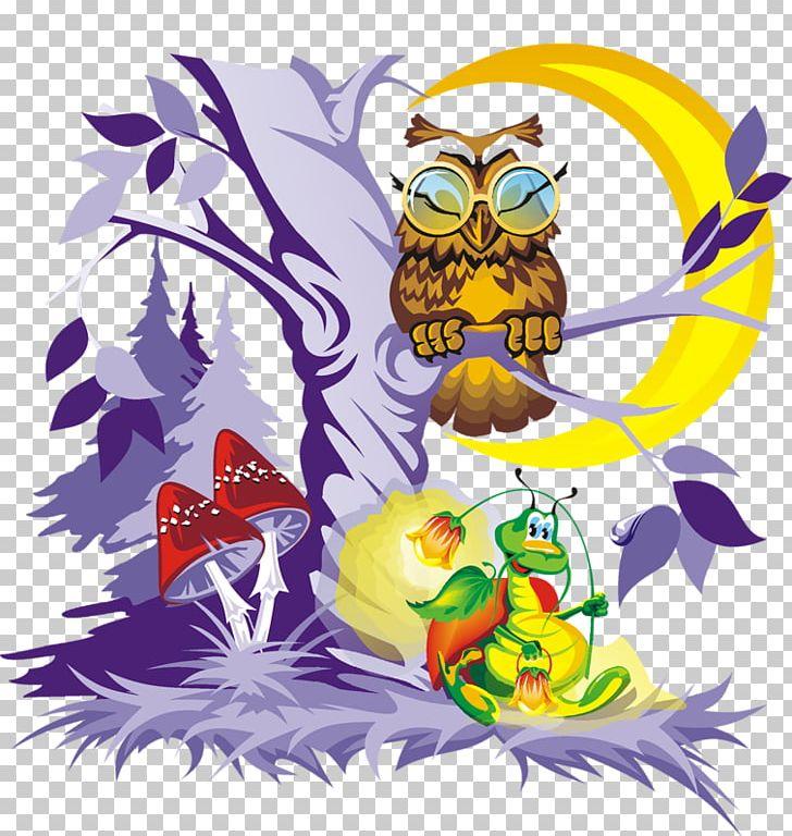 Owl fairy tale proverb. Fairytale clipart folklore