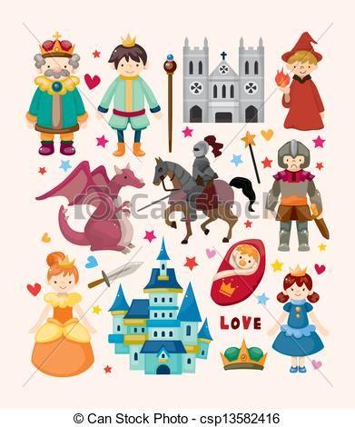 Fairytale clipart illustration. Fairy tale characters clip