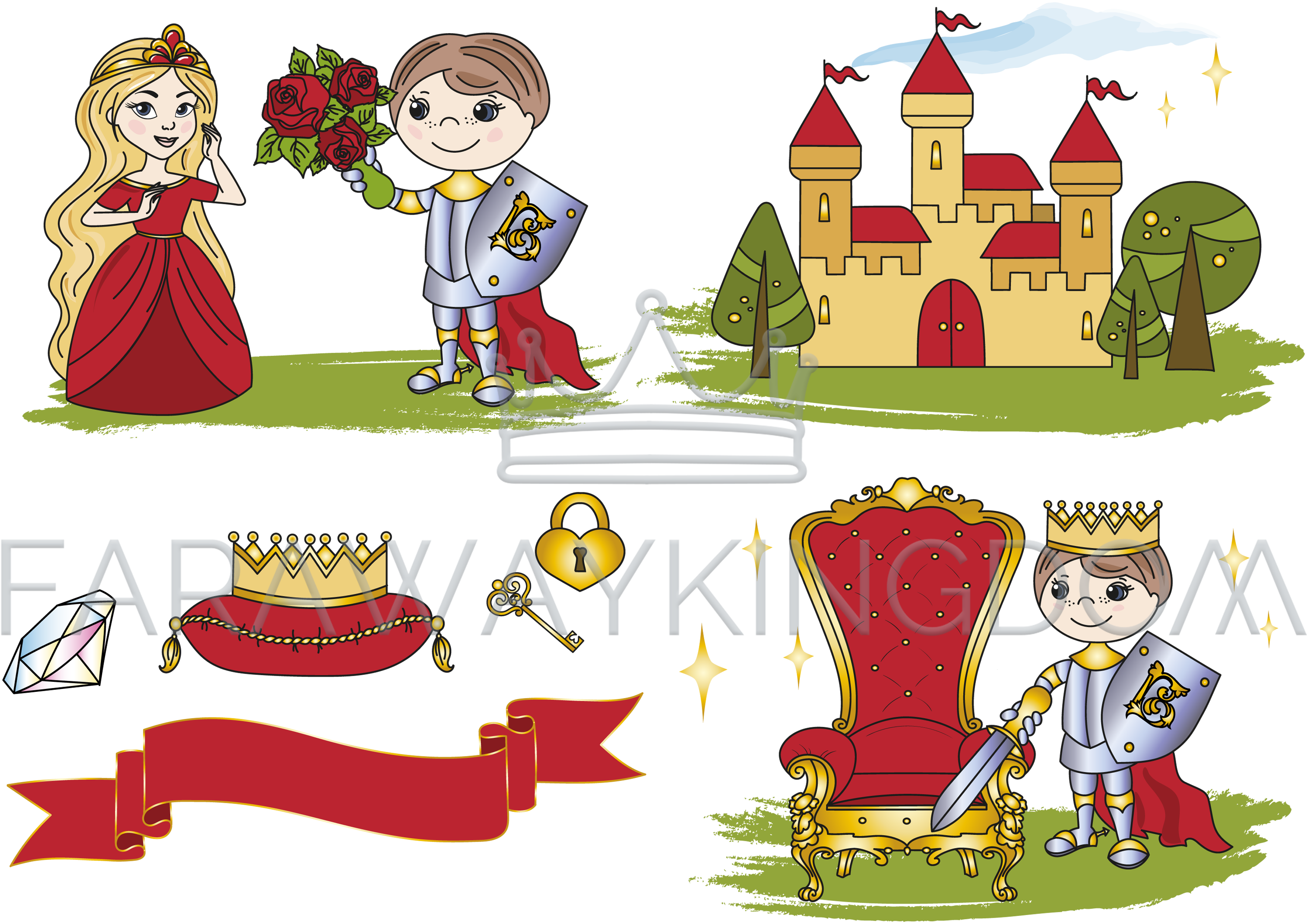 Fairytale clipart king castle. Little fairy tale cartoon