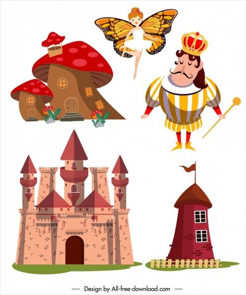 Fairytale clipart king castle. Fairy tale design elements