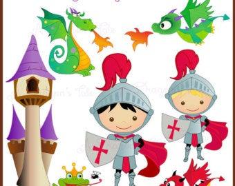 Cute etsy . Fairytale clipart knight