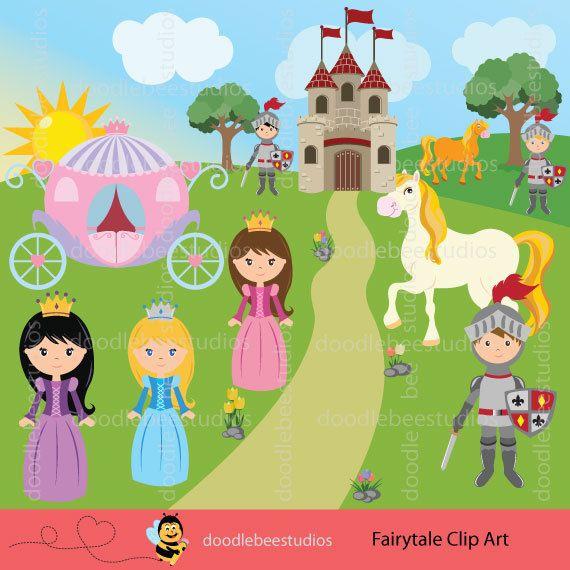 Princess clip art . Fairytale clipart knight