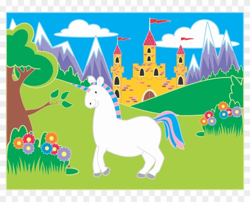 Unicorn icon png . Fairytale clipart landscape