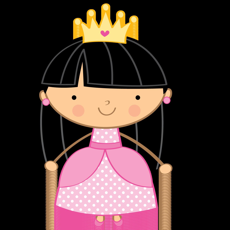 Princesas e fadas prin. Fairytale clipart little girl