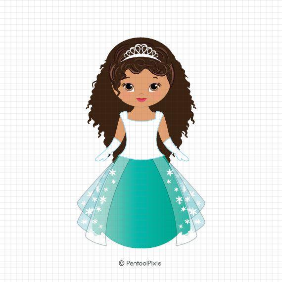 Fairytale clipart little girl. Fairy tale princess digital