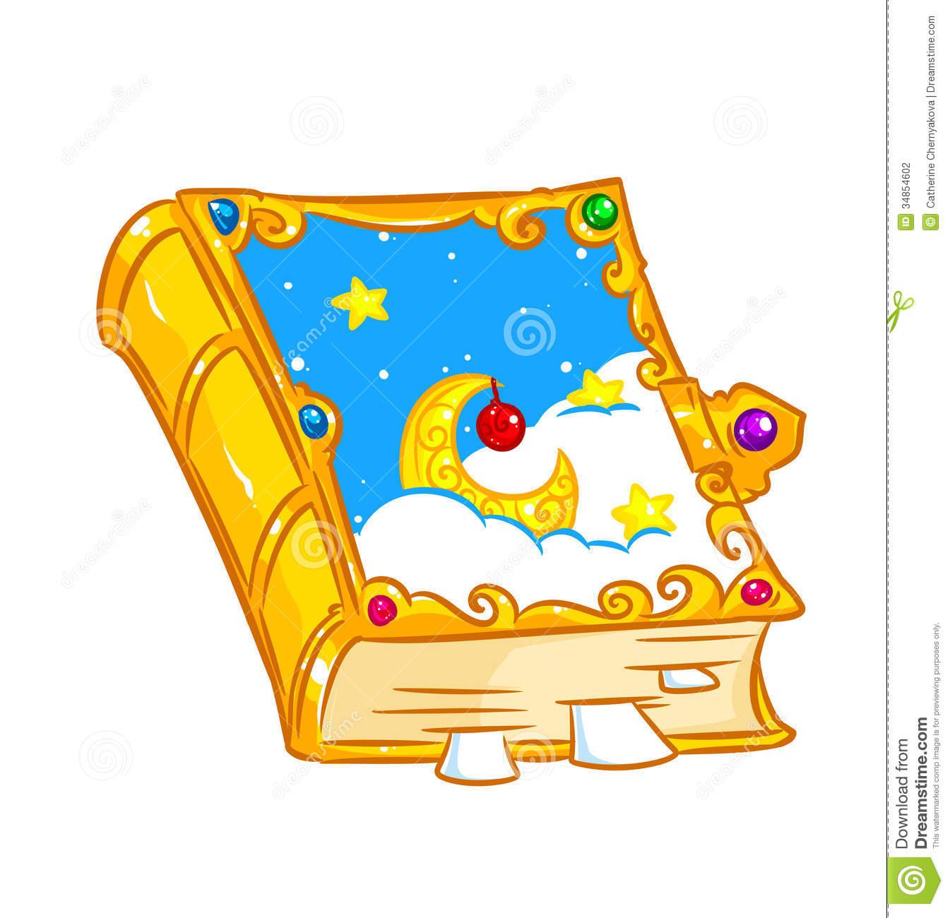 Fairytale clipart magic book. Fairy tale stock panda