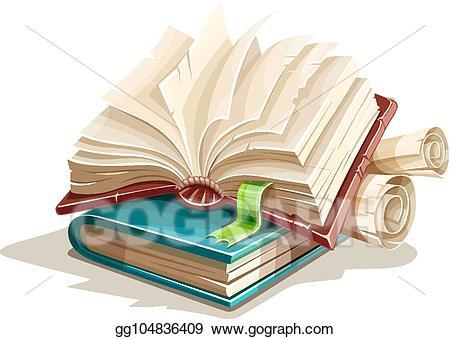 Vector stock books spreadsheet. Fairytale clipart magic book