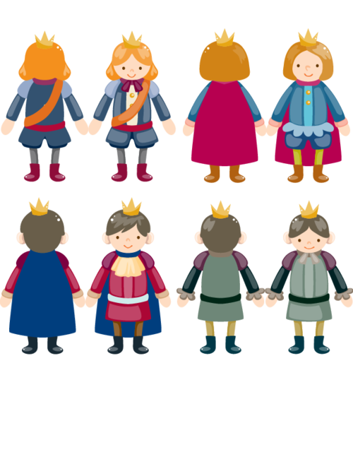 Stick puppet prince pinterest. Fairytale clipart medieval period