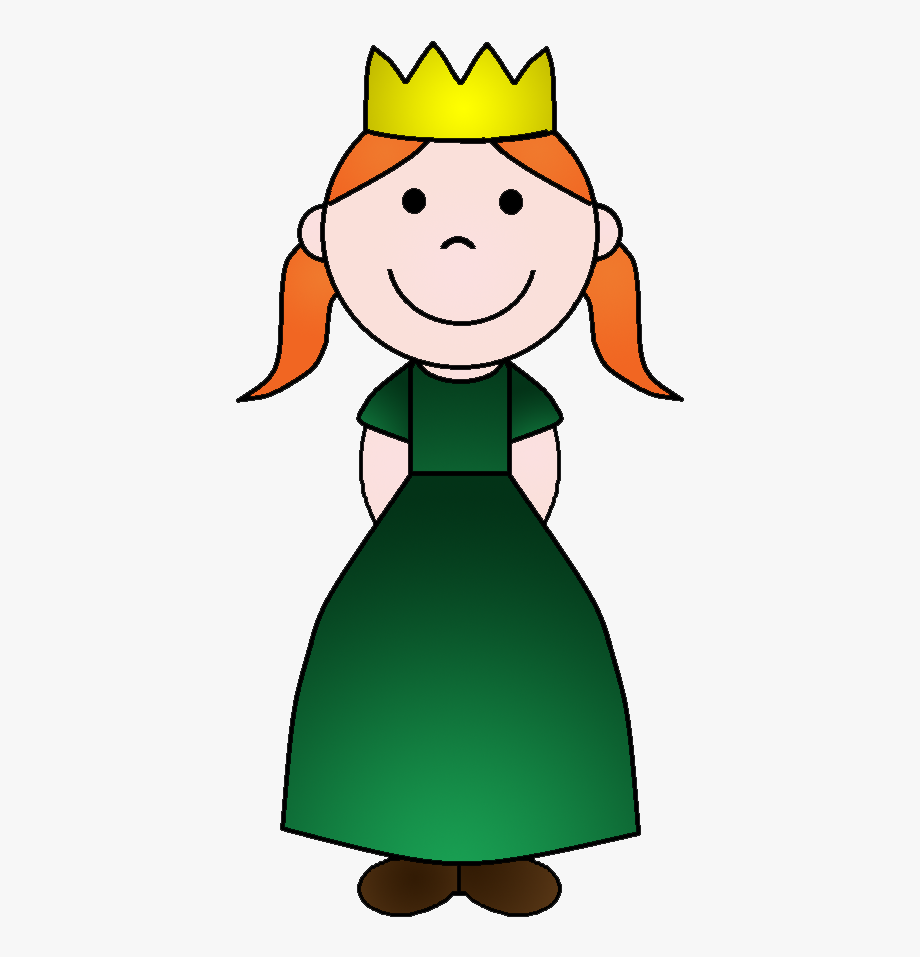 Dark small princess coloring. Fairytale clipart middle ages