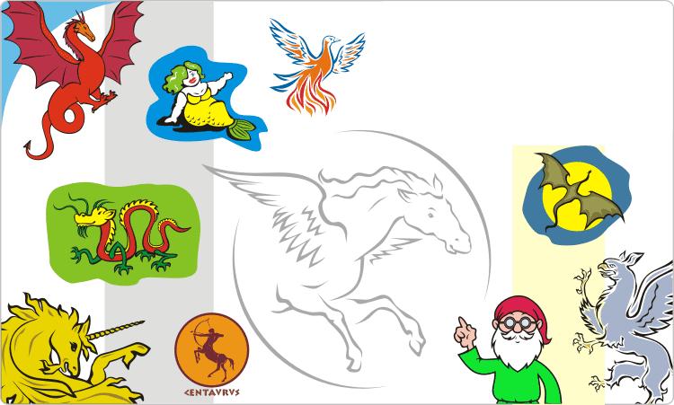 Fairytale clipart mythical beast. Creatures clip art images
