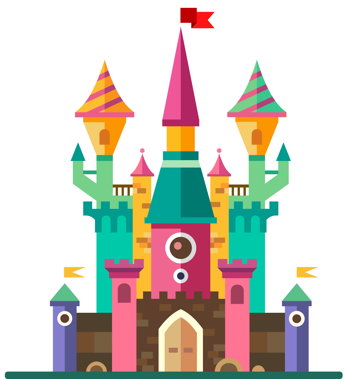 Fairy tale royalty free. Fairytale clipart pretty castle