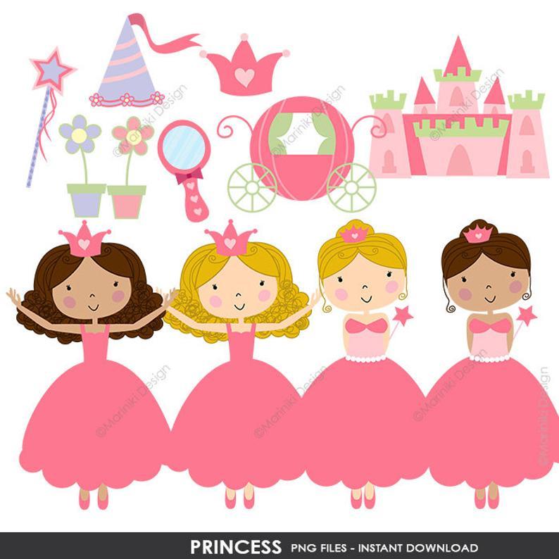 Fairytale clipart princess birthday. Clip art cute graphics