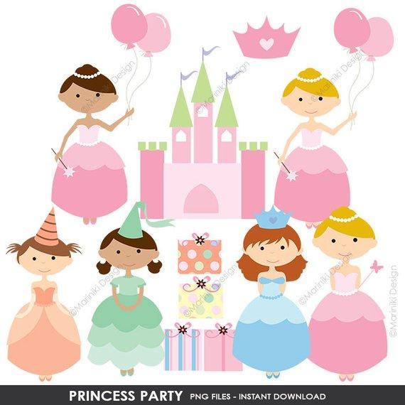 Party clip art cute. Fairytale clipart princess birthday