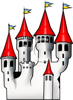 fairytale clipart red castle