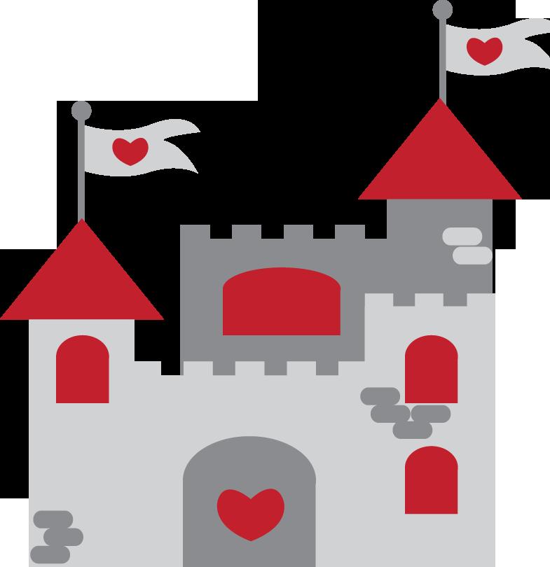 Princesas e pr ncipes. Fairytale clipart red castle