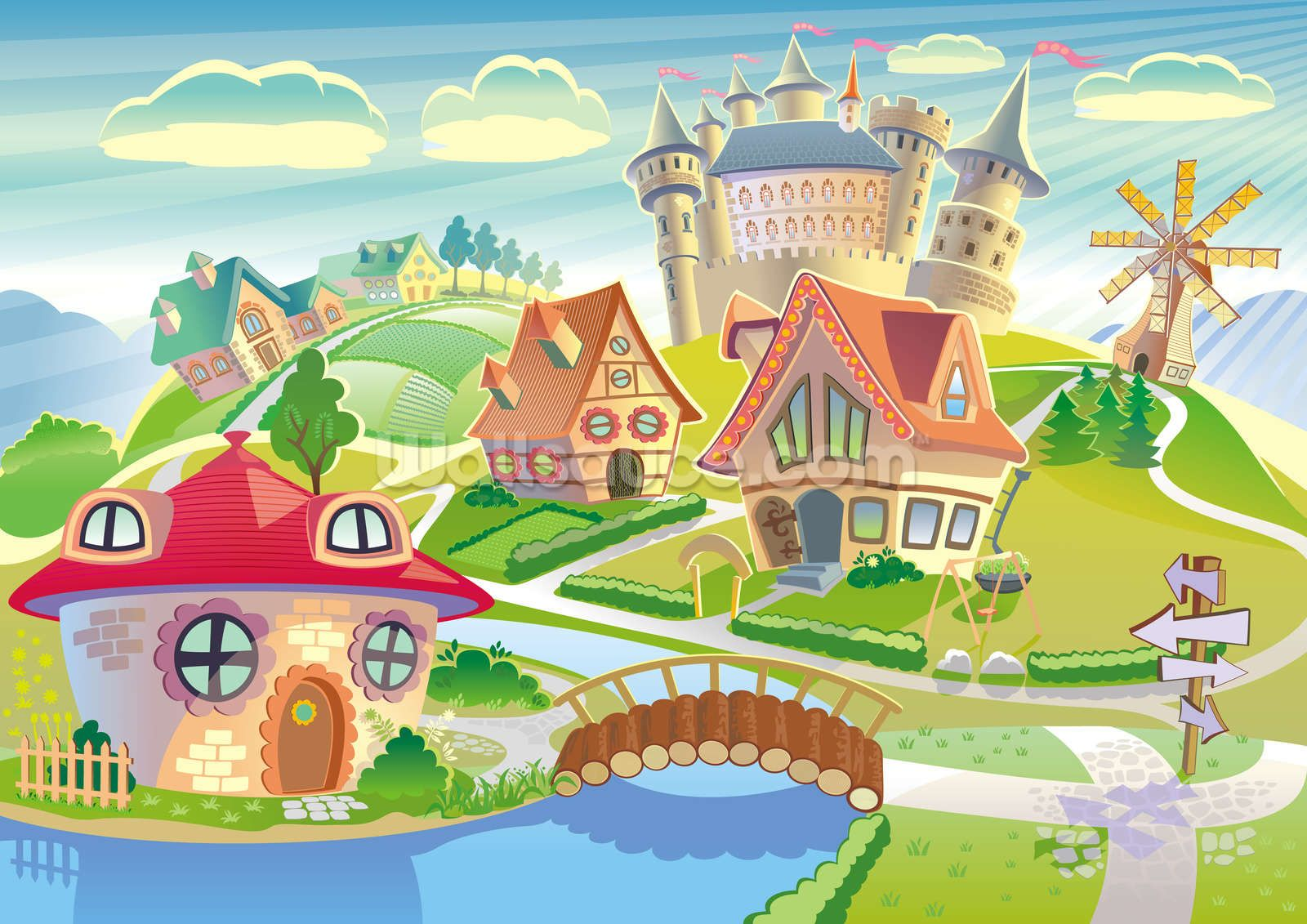Fairytale clipart scenery. Pin on astitch designs