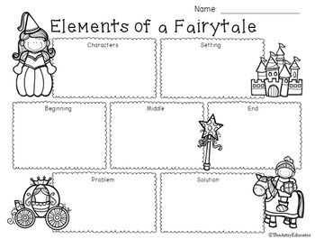 Elements of a freebie. Fairytale clipart story problem