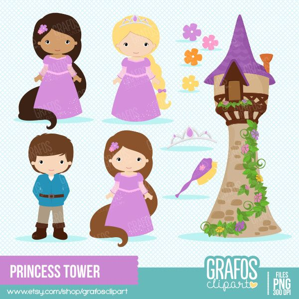 Pin by melissa goyette. Fairytale clipart tower