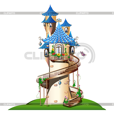 Fairytale clipart tower. Houses and castles serie