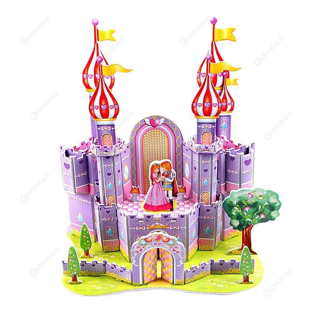 Fairytale clipart toy castle.  d diy puzzle