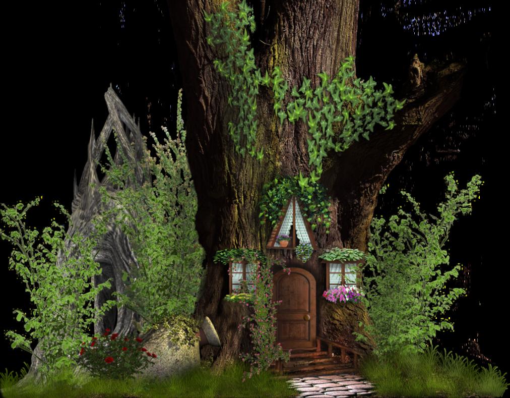 Fairytale clipart tree. Fairy tale house by
