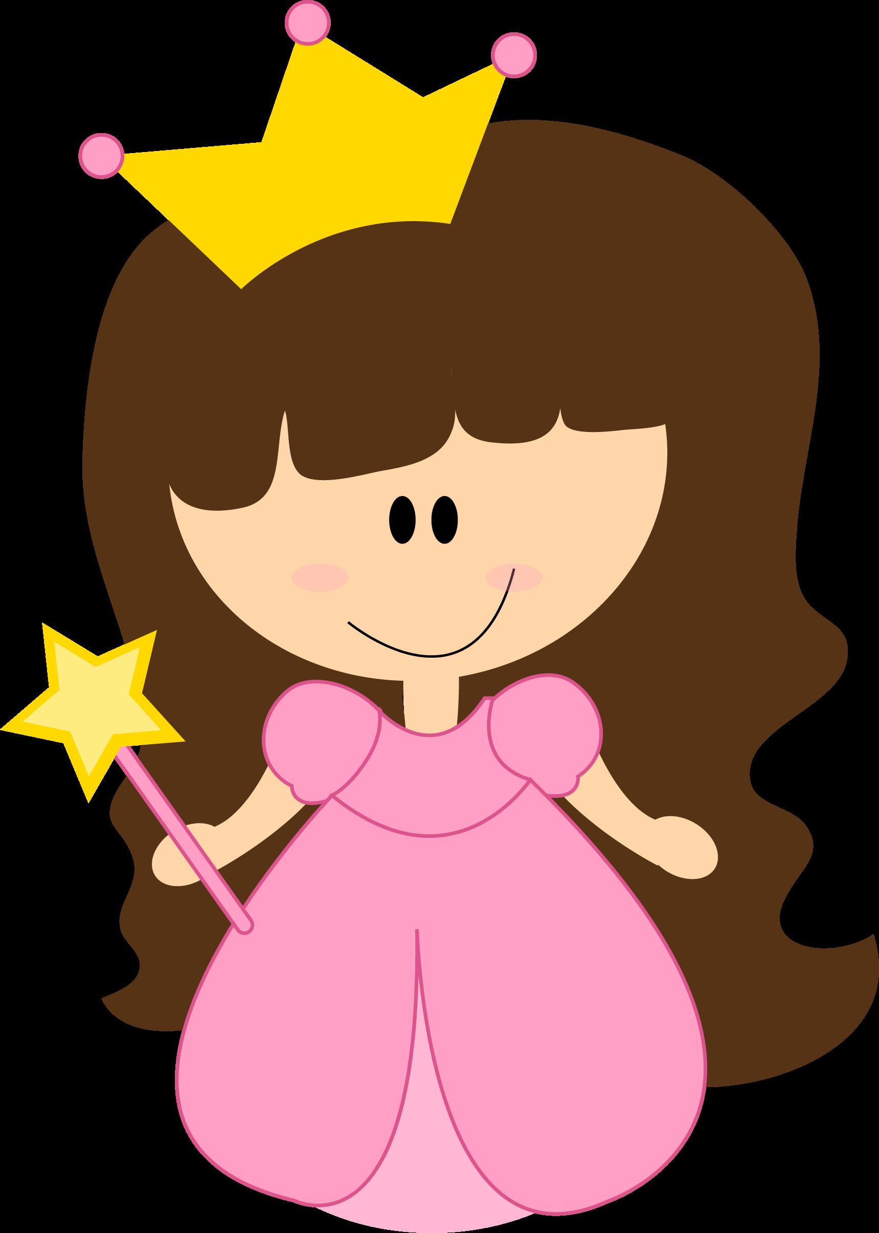 Princess fairy clip art. Girls clipart smile
