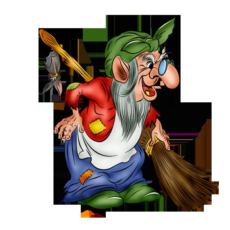 Baba yaga koschei fairy. Fairytale clipart witch