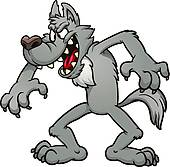 Wolf station . Wolves clipart fairytale