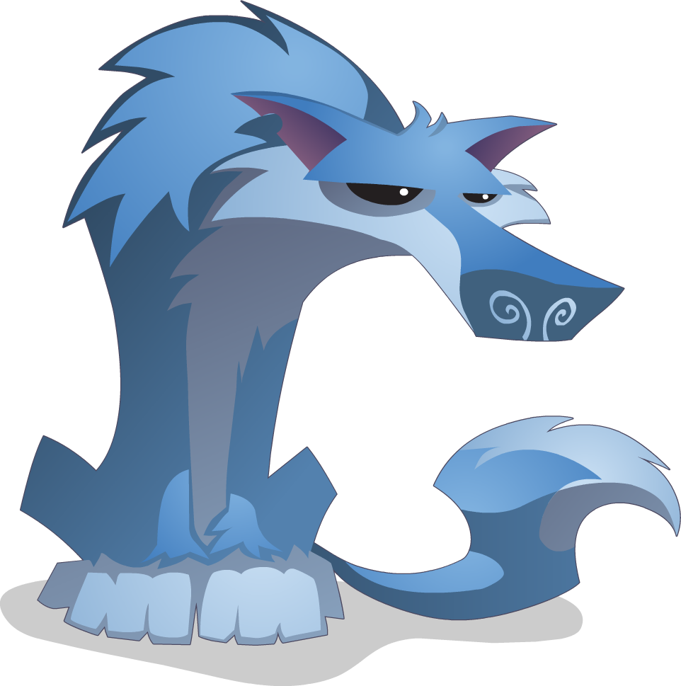 Paw clipart animal jam. Image wolf sitting png