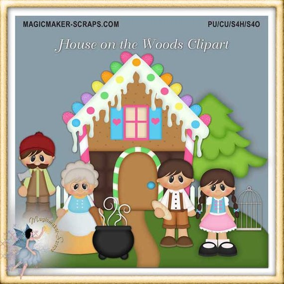 Storybook house on the. Fairytale clipart woods
