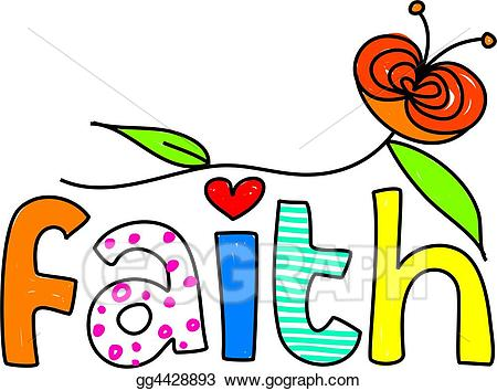 Stock illustration gg gograph. Faith clipart