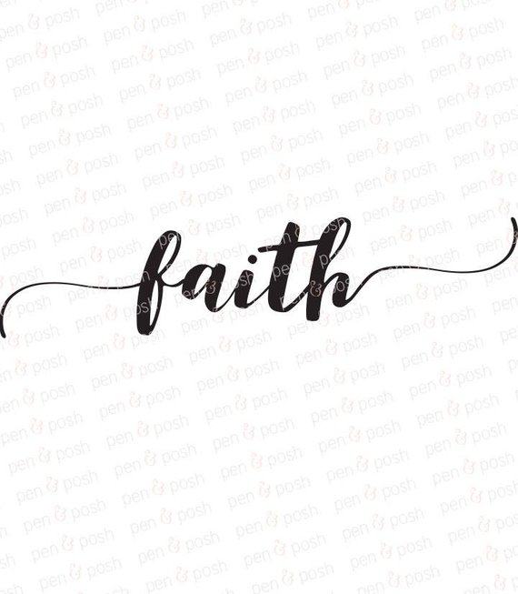 Faith clipart. Svg dxf decoration