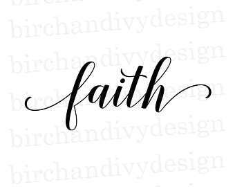 Faith clipart. Etsy