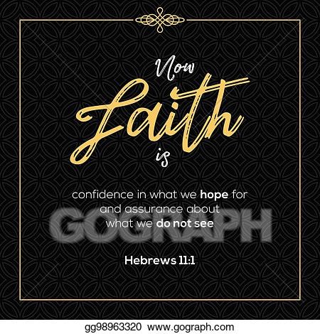 Faith clipart bible quotes. Eps illustration now is