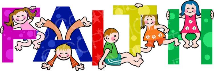 Faith clipart cartoon. Kids text clip art