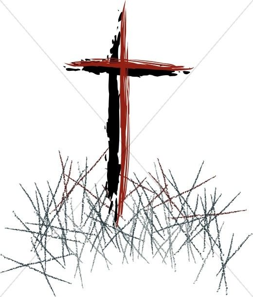 Faith clipart lent. Colored sketched cross easter