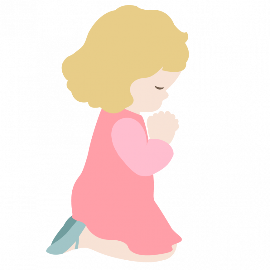 Faith clipart prayer background. Little girl s crossmap
