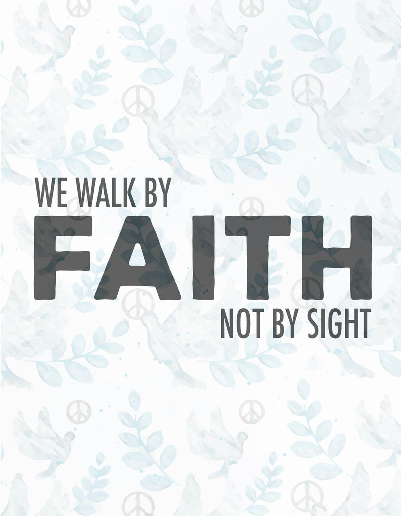 Faith clipart we ve. Walk by not svg