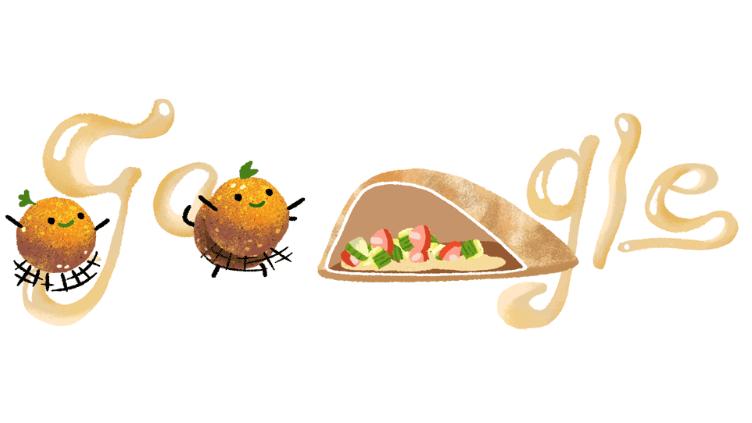 Google doodle serves up. Falafel Smiley
