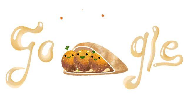 Falafel Smiley. Today s google doodle
