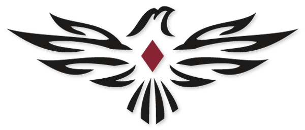 Red free clip art. Falcon clipart