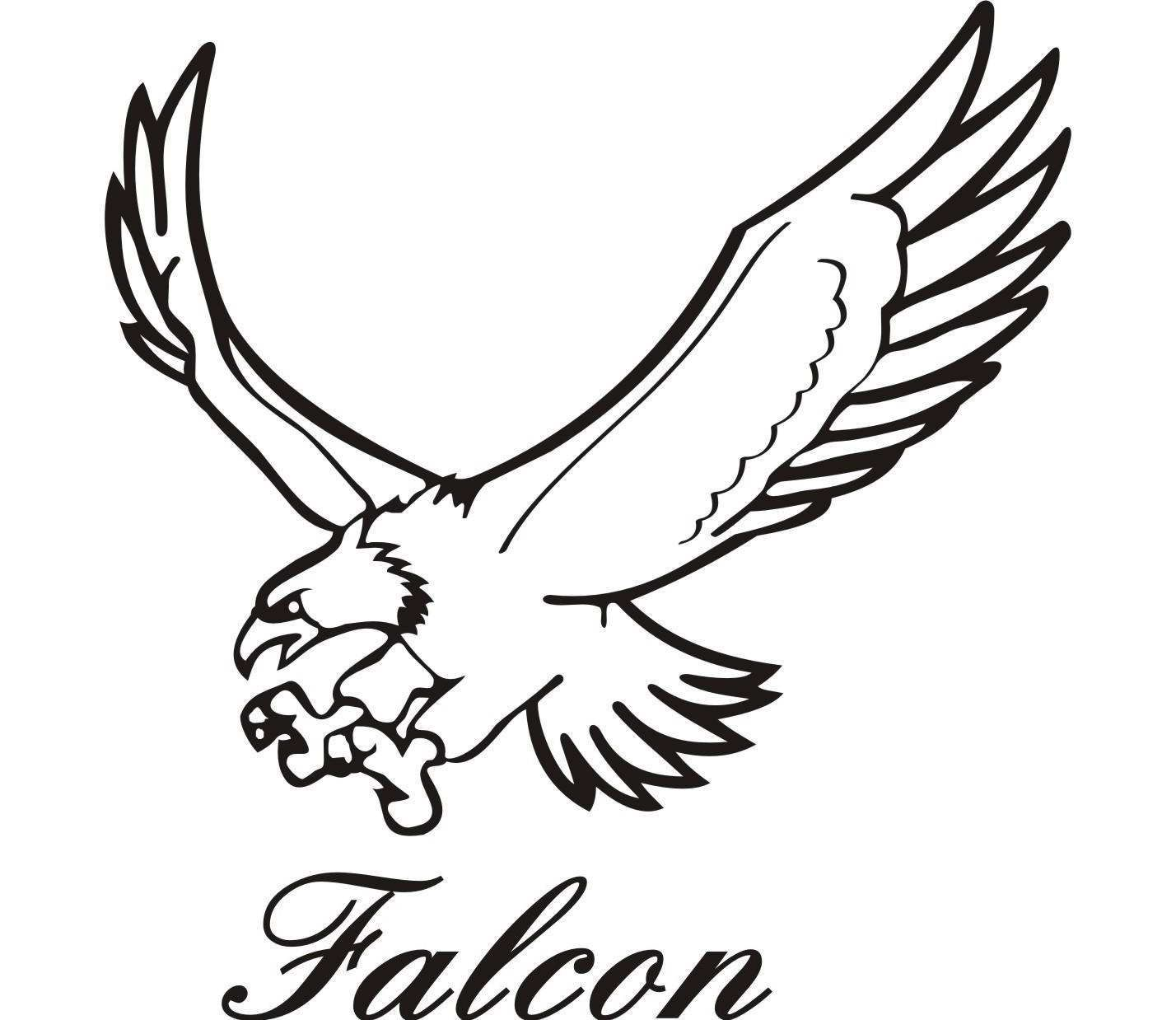 Falcon clipart. Peregrine drawings the best