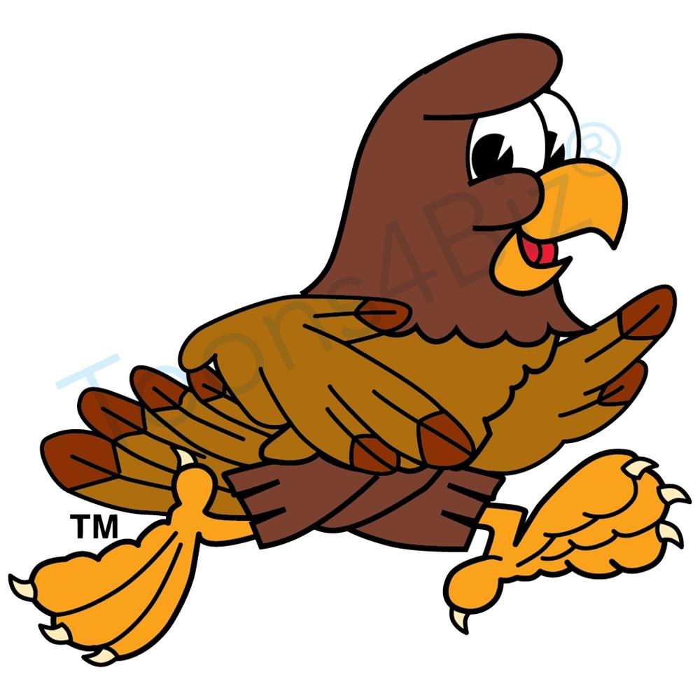Falcon clipart. Mascot running clip art
