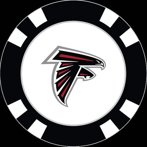 Falcon clipart atlanta falcon. Falcons poker chip ball